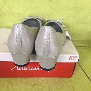 American Eagle Outfitters Shoes - New American Eagle Marcie Silver Wedge Shoes 6
